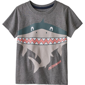 Patagonia Graphic Organic Camiseta Niños, patashark/gravel heather